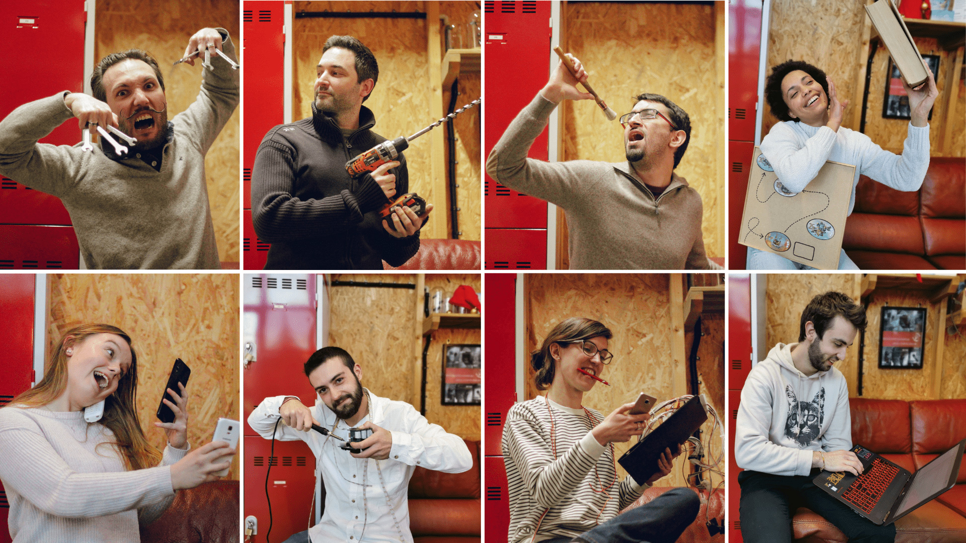 L'équipe de création de L'Atelier des Énigmes